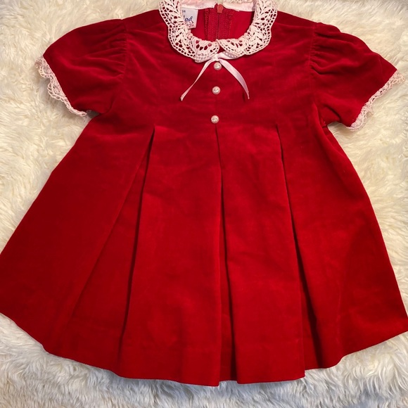 Good Lad Apparel Toddler  Girls Dress Size 12M  18M NWT Red White Blue